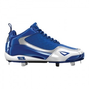 Mens 3N2 Viper Metal Baseball Cleats Blue Leather - ONLY $99.95