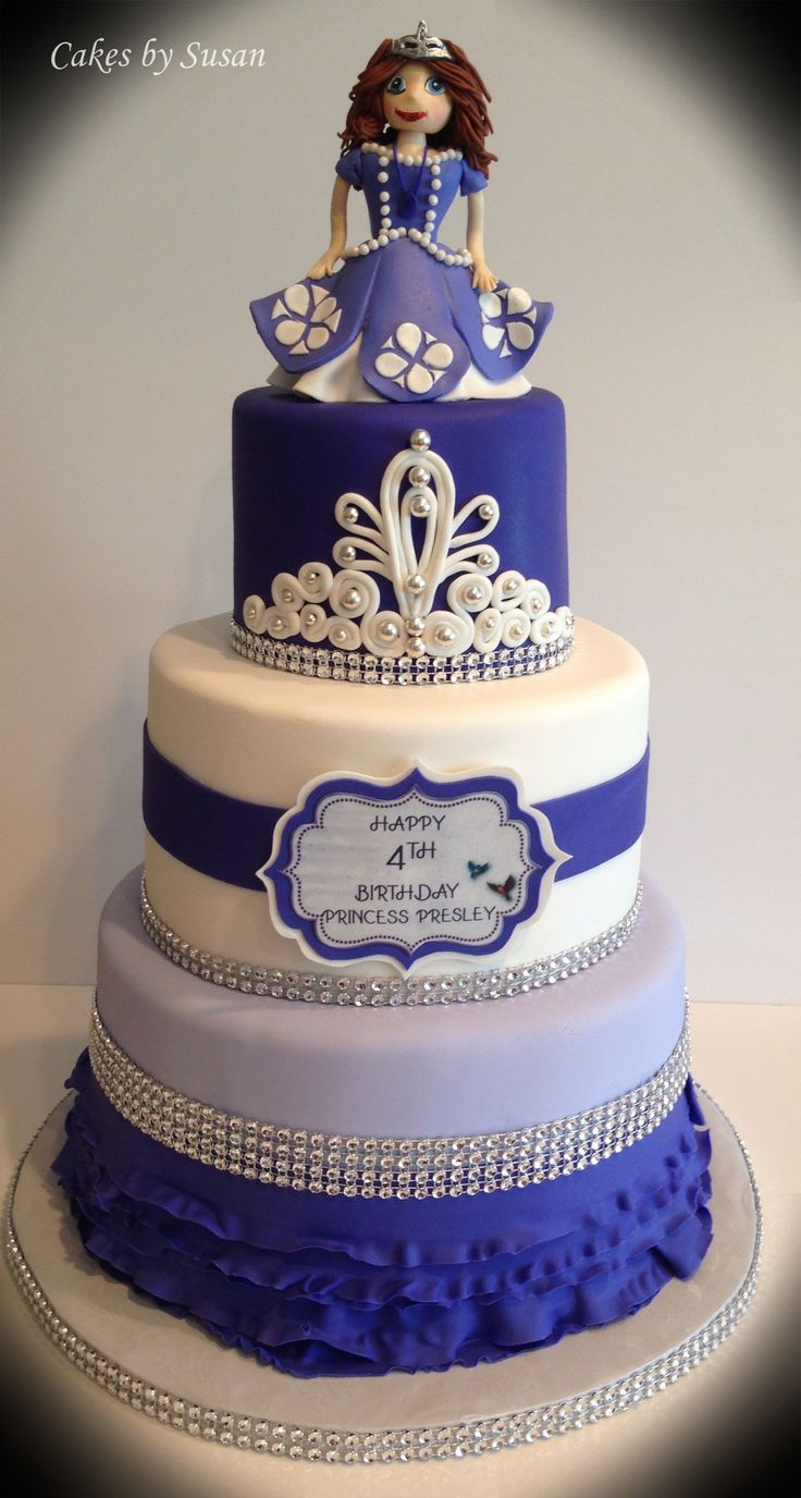 Also lime the 2nd layer of this one Sofia the First birthday cake