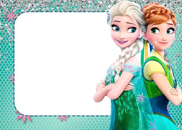 Preciosa invitación para una celebración de cumpleaños inspirada en la película de Disney Frozen. #Frozen #invitaciones