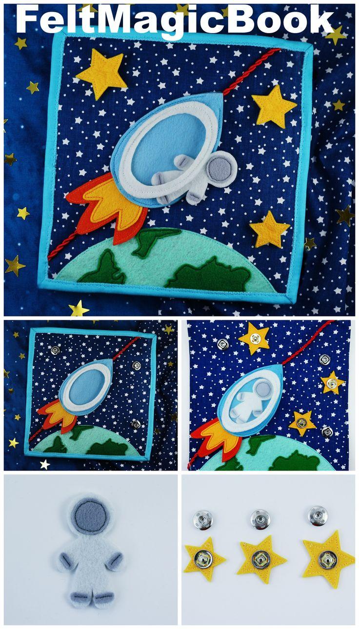 Rocket  Pdf  Quiet Book  Felt Busy Book  Toddler Book  Activity Book   Fabric Quiet Book  Pattern