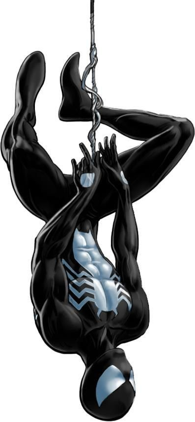 Black suit Spider-Man from Marvel's introduction of the Venom symbiote.