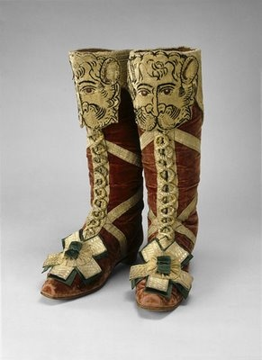 Coronation herald's boots, 1797. Russia. © The Moscow Kremlin Museums