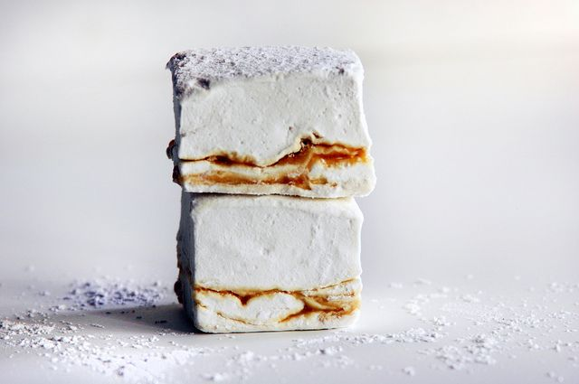 Local Milk | homemade marshmallows: earl gray & lapsang souchong salted caramel