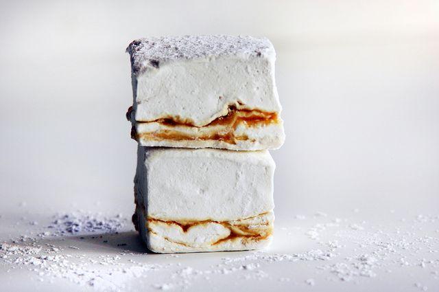 homemade marshmallows: earl gray & lapsang souchong salted caramel