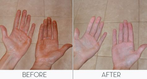 How to remove self tanner from your hands with common household item!  LOVE IT!