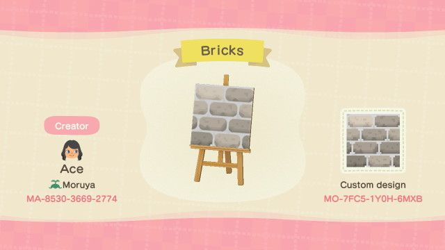 Firebugz Give Aways Made This Brick Path It Has A Transparent Pixel Animal Crossing New Animal Crossing Animal Crossing Qr