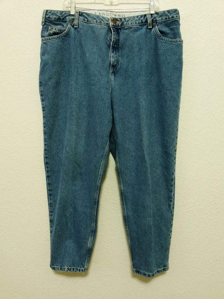 "Lands' End - Women's Denim Blue Jeans Size 18W/P with 27"" Inseam Pants #LandsEnd #RelaxedFit ..... Visit all of our online locations ..... (www.stores.eBay.com/variety-on-a-budget) ..... (www.amazon.com/shops/Variety-on-a-Budget) ..... (www.etsy.com/shop/VarietyonaBudget) ..... (www.bonanza.com/booths/VarietyonaBudget ) .....(www.facebook.com/VarietyonaBudgetOnlineShopping)"