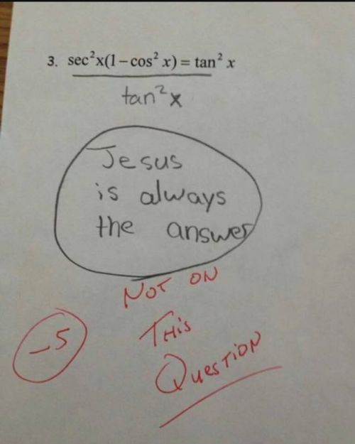 Have you ever written something ridiculous on a test?
