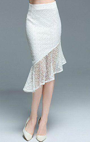 Mujer Faldas Largas De Tubo Plisada Cola De Pescado Elegante Cintura Alta  Elástico Lápiz Bodycon Falda 4ebe46f8d