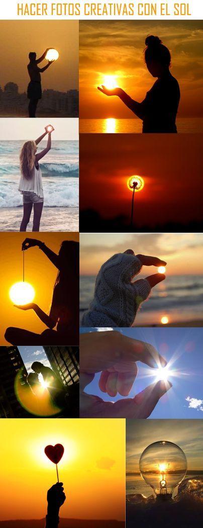 Si viajas y te gusta hacer fotografías creativas, aquí os dejamos una muestra de algunas sencillas técnicas de fotografía para hacer creativas fotos con el Sol. Desde el clásico sol que se atrapa con las manos, hasta increíbles trucos con bombillas y cordeles que harán de tus fotografías una obra de arte para compartir con tus amigos.:
