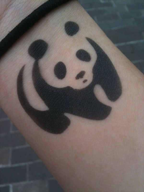 27 best simple panda tattoo images on pinterest panda tattoos panda and panda bears. Black Bedroom Furniture Sets. Home Design Ideas