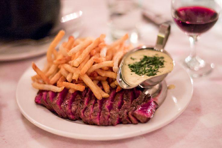 Steak Frites at Chez Jef, NYC.