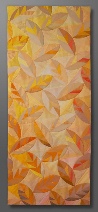 Nancy Whittington- Autumn in the South silk; hand-dyed and painted machine-pieced, hand-appliquéd and hand-quilted