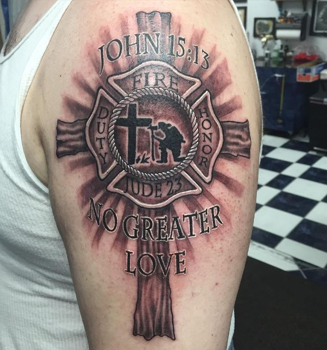 Pirate Firefighter Tattoo Fire Fighter Tattoos Fire Tattoo