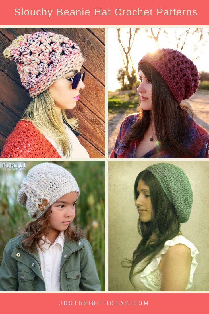 6030517272146 Totally Cute Crochet Slouchy Hat Patterns  for cold days and bad ...