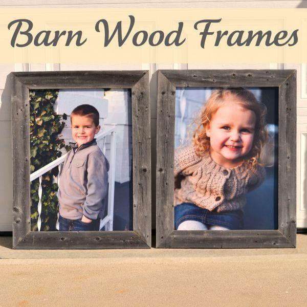 Barn Wood Frames {Roadkill Rescue}