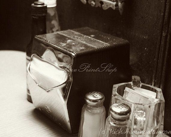 Stampa fotografia vintage Diner  raffinata di ShutterLovePrintShop