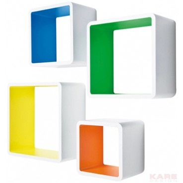 Lounge Cube MDF Carré Couleur 4/Set - Kare Design