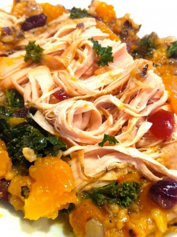 The Fountain Avenue Kitchen – Slow Cooker Turkey Tenderloin with Wild Rice and Butternut Squash
