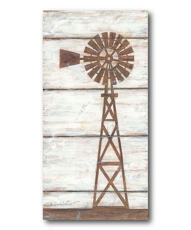 Look what I found on #zulily! Farmhouse Windmill Wrapped Canvas #zulilyfinds
