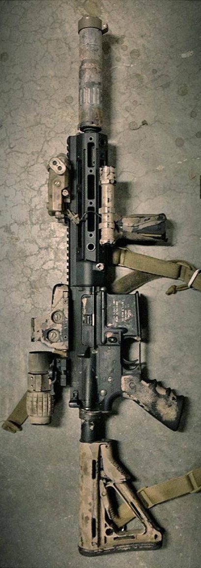 """HK416 10.4"""" with Remington Defense rail system. Supposedly THE rifle that took out UBL."""