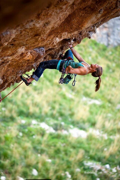 climber Whitney Boland, on Mi Puo Fare Accendere by Andrew Burr