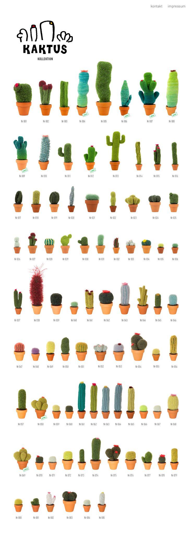 Crochet cactus collection. I want one of each please thank you please
