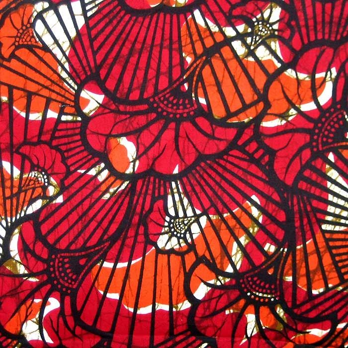 African Wax Print Fabric - Looks like some work with batik then screenprint.. might try this!