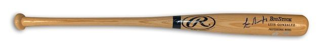 Autographed Luis Gonzalez Rawlings Big Stick Bat with Printed Name - Gameday Sports & Memorabilia