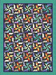 Free Quilting Pattern: Log Cabin Swirl - McCall s Quilting