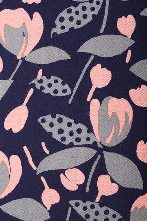 ドットリーフつぼみプリント - flower print
