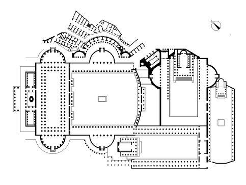 piantina dei Fori Imperiali romani