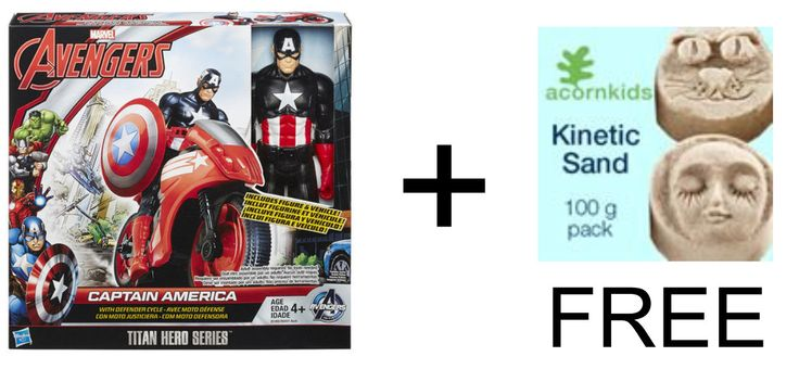 Buy any Avengers and receive a 100g pack of Kinetic sand free!