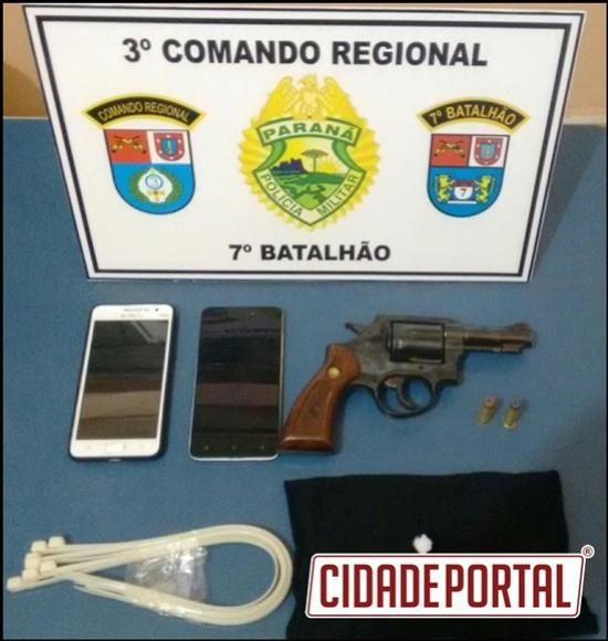 Policiais apreendem três armas de fogo na região do 7º batalhão da Polícia Militar