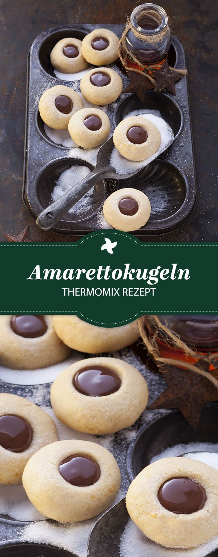 Lecker! Leckere Amarettokugeln. Dieses köstliche Thermomix® Rezept für Weihnachten …   – Süßigkeiten