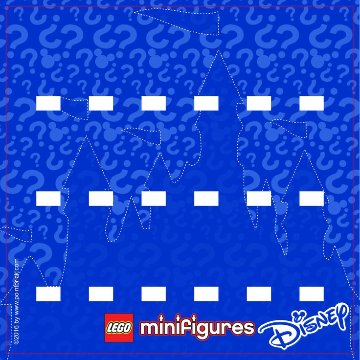 LEGO Minifigures 71012 - Series Speciale Disney - Display Frame Background 230mm…