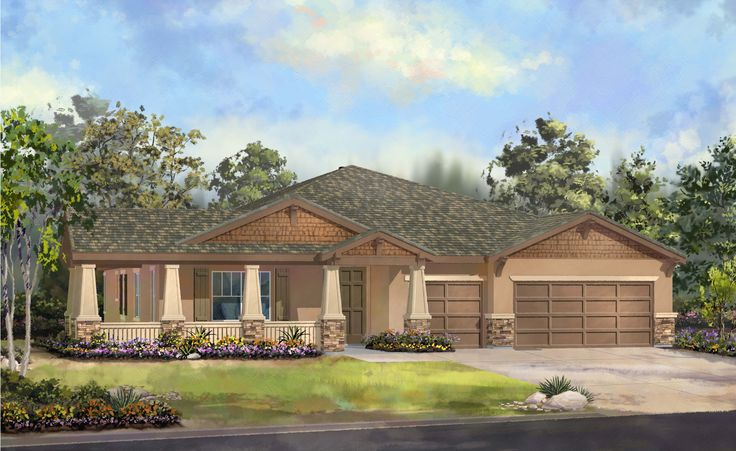 Ranch homes this large ranch style home boasts almost - What is a ranch house ...