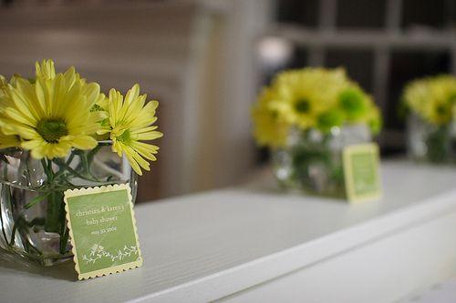 Baby shower: arreglos florales lindísimos