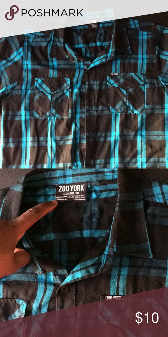 Zoo York collard shirt It's a boys XL but could be a men's small and maybe a men's medium but that's if your a real slim medium Zoo York Shirts & Tops Button Down Shirts