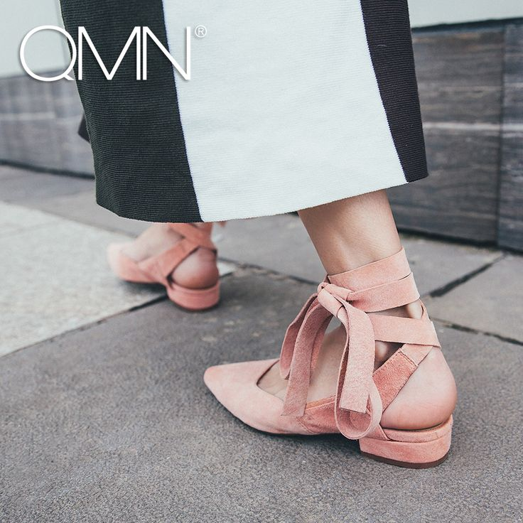 >> Click to Buy << QMN women genuine leather mules Women Natural Suede Low Heels Slippers Ankle Strap Summer Leisure Shoes Woman Leather Slides #Affiliate