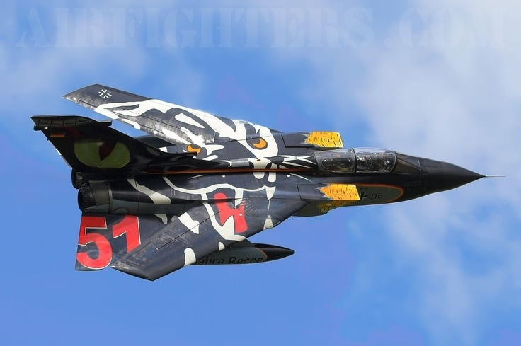 Panavia Tornado German Air Force: reminds of the famous Luftwaffe WW1 squadron - the flying circus