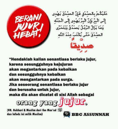 BBG As-Sunnah : Berani Jujur