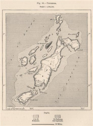 Tanimbar-Islands-Timur-Laut-Maluku-Indonesia-East-Indies-1885-antique-map