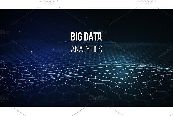 Big Data Visualization Background 3d Big Data Connection