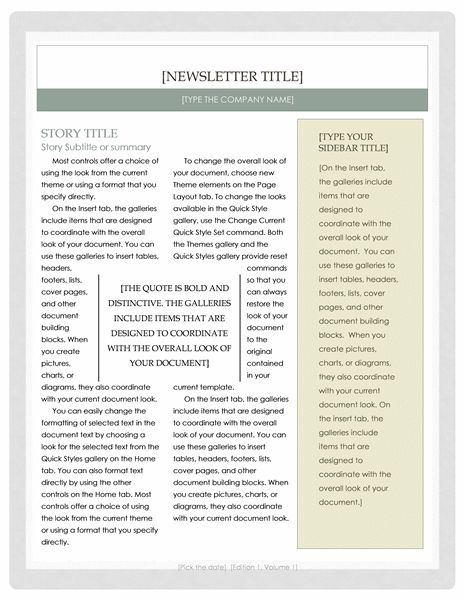 Newsletter templates for Word