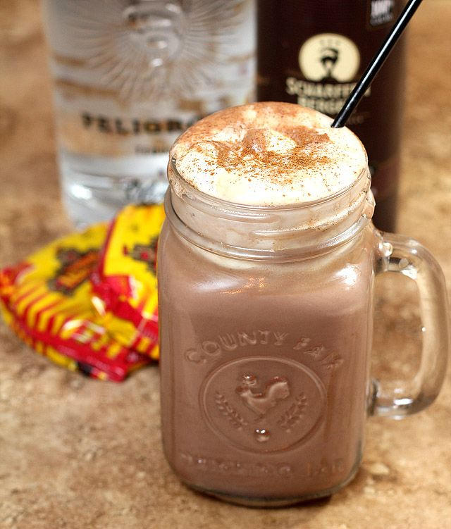 Mexican Hot Chocolate with Tequila and Cayenne