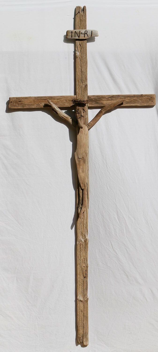 Driftwood Crucifix by Halsdriftwood on Etsy https://www.etsy.com/listing/156217793/driftwood-crucifix