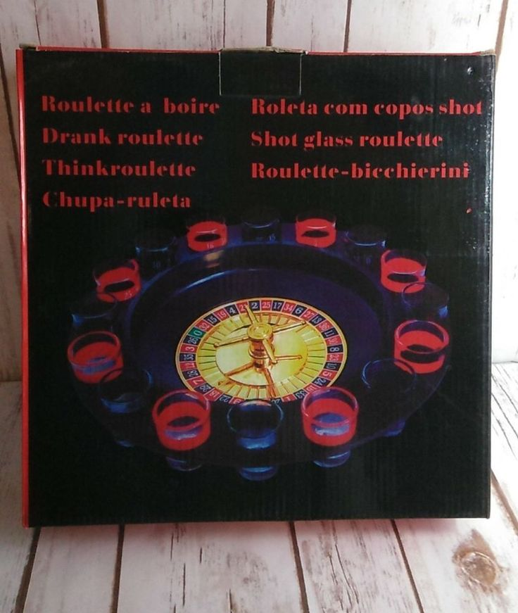 Details about 16shot roulette drinking game set party
