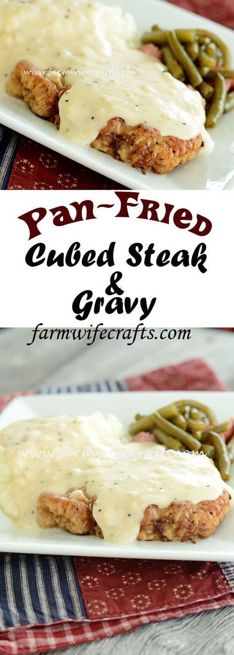 It's winter and if you are like me, you are looking for the ultimate comfort food. Possibly one that reminds you of your childhood? This Pan-Fried Cubed Steak and Gravy recipe screams comfort food!