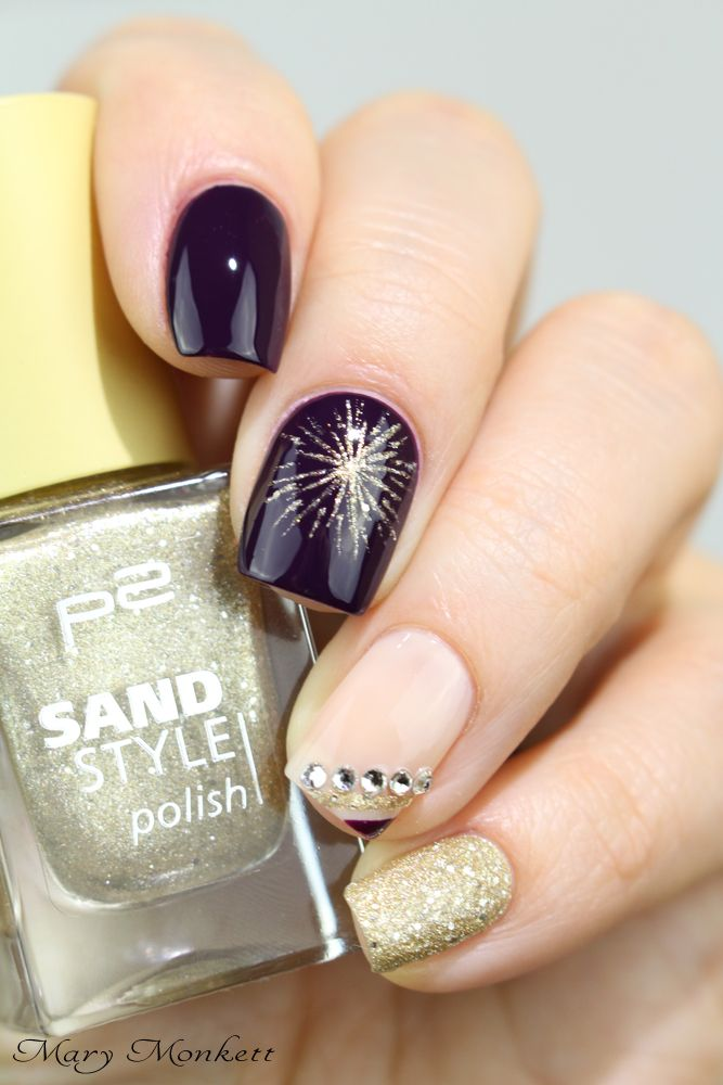 407 best New Year\'s Eve Nails images on Pinterest